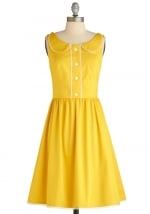Yellow dress like Lemons at Modcloth