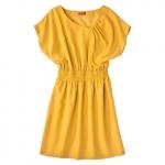 Yellow short sleeve dress at Target