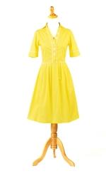 Yellow short sleeve dress at Shabby Apple