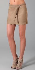 Helmut Lang leather wrap skirt at Shopbop