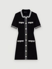 119RAVELA Short dress with trim at Maje