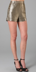 Zoe's silver shorts at Shopbop