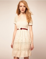 Waisted lace dress at Asos