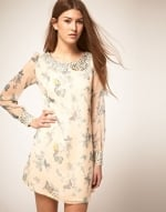 Butterfly print dress at Asos