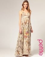 Butterfly print maxi dress at Asos