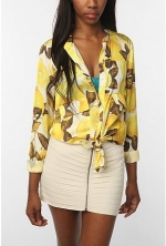 Lemon print blouse at Urban Outfitters