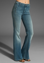 High waisted flared jeans at Revolve