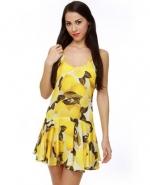 Lemon print dress at Lulus