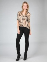 Brown and black print blouse from Hart of Dixie at Pink Mascara