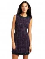 Dark purple tweed dress at Amazon