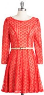 Orange lace dress at Modcloth
