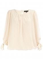 Cream polka dot blouse like Lemons at Dorothy Perkins