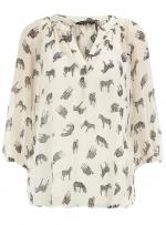 Zebra print blouse at Dorothy Perkins