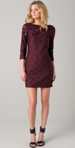 Burgundy lace dress like Zoes at Shopbop