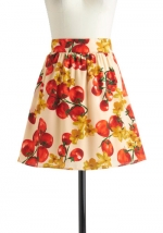 Patterned skirt at Modcloth