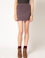 Grey mini skirt at Asos
