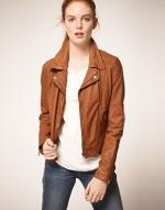 Levis leather biker jacket at Asos