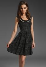 Black tweed dress at Revolve