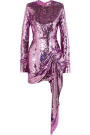 16ARLINGTON - Draped sequined crepe mini dress at Net A Porter