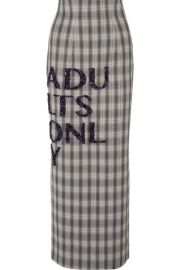 16ARLINGTON - Embellished checked crepe maxi skirt at Net A Porter