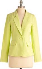 Lime blazer at Modcloth