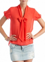 Orange blouse like Lemons at Go Jane