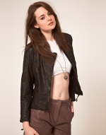 Black leather jacket like Brittas at Asos