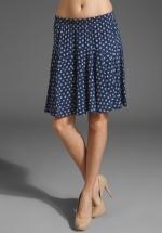 Blue and white patterned skirt like Lemons at Revolve