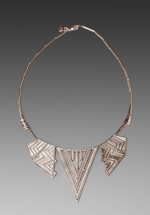 House of Harlow Chevron Five Station Necklace at Revolve