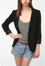Black blazer at Urban Outfitters