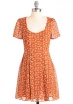 Orange dress at Modcloth