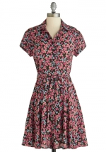 Floral print dress at Modcloth