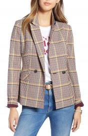 1901 Double Breasted Plaid Blazer  Regular  amp  Petite at Nordstrom