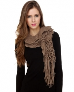 Brown scarf at Lulus