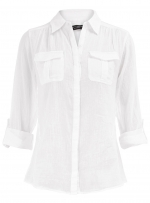White blouse with pockets at Dorothy Perkins