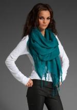Green scarf at Revolve