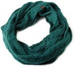 Green knit scarf at Amazon