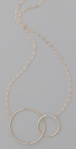 Gold circle necklace at Shopbop