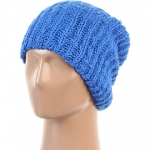 Blue knit beanie at Zappos