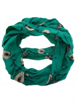 Green flower print scarf at Dorothy Perkins