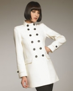 Burberry London white coat at Neiman Marcus