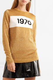 1970 metallic knitted sweater at Net A Porter