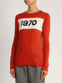 1970-intarsia wool sweater at Matches
