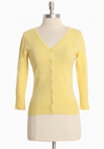 Simple yellow cardigan at Ruche