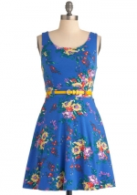 Blue floral dress like Annies at Modcloth