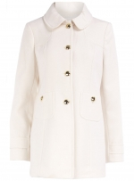White coat with gold buttons at Dorothy Perkins
