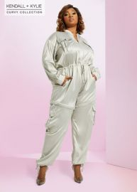 2 in 1 Jumpsuit by Kendall  Kylie at Ashley Stewart