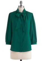Green blouse like Annies at Modcloth