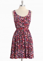 Pink floral dress at Ruche
