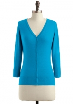 Turquoise cardigan like Annies at Modcloth